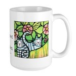 GARDEN CATS Extra Large Coffee or Cocoa Mug