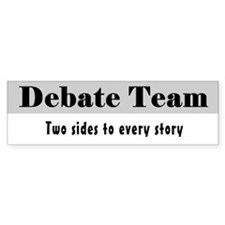 Debate Team Bumper Sticker