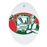 Garbage Collector Ornament (Oval)