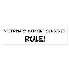 VETERINARY MEDICINE STUDENTS Bumper Bumper Sticker