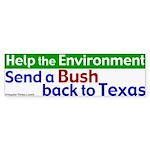 Bush Back to Texas Bumper Sticker