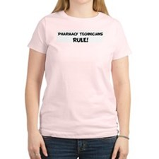 PHARMACY TECHNICIANS Rule! Women's Pink T-Shirt