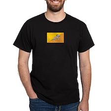 Bhutan Black T-Shirt