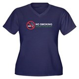No Smoking Women's Plus Size V-Neck Dark T-Shirt