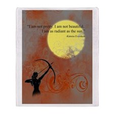 Radiance of Katniss Everdeen Throw Blanket