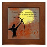 Radiance of Katniss Everdeen Framed Tile
