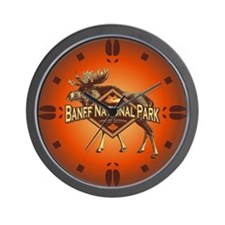 Banff Natl Park Moose Wall Clock
