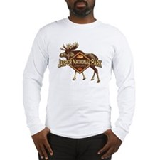 Jasper Natl Park Moose Long Sleeve T-Shirt