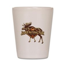 Jasper Natl Park Moose Shot Glass