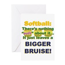 Softball = Not Soft Greeting Cards (Pk of 20)