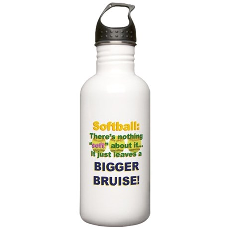 Softball = Not Soft Stainless Water Bottle 1.0L