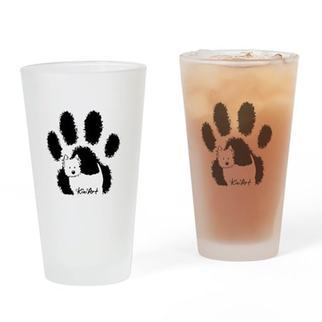 Pawfect Westie Drinking Glass