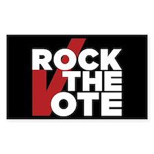 Rock the Vote Sticker (Rectangle)