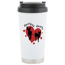 Ceramic Travel Mug-Red&Black-Hairless Hearts