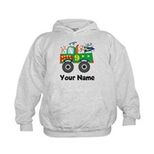 Personalized 9th Birthday Monster Truck Hoodie