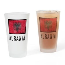 Vintage Albania Drinking Glass