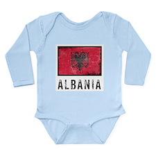 Vintage Albania Long Sleeve Infant Bodysuit