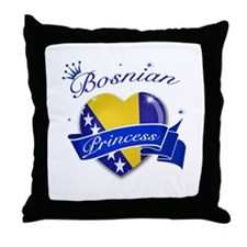 Bosnian Princess Throw Pillow