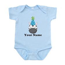 Personalized Birthday Zebra Infant Bodysuit