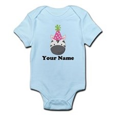 Personalized Birthday Zebra Infant Bodysuit