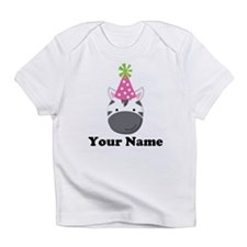 Personalized Birthday Zebra Infant T-Shirt