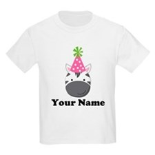 Personalized Birthday Zebra T-Shirt