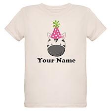 Personalized Birthday Zebra T-Shirt