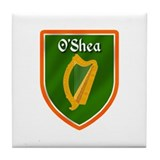 O'Shea Family Crest Tile Coaster