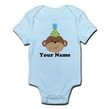 Personalized Birthday Monkey Onesie