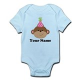 Birthday monkey t personalized Baby