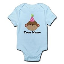 Personalized Birthday Monkey Infant Bodysuit