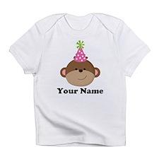 Personalized Birthday Monkey Infant T-Shirt