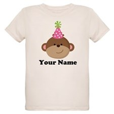 Personalized Birthday Monkey T-Shirt