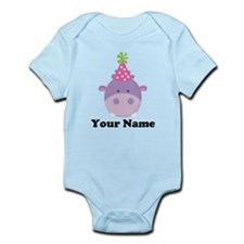 Personalized Birthday Hippo Infant Bodysuit