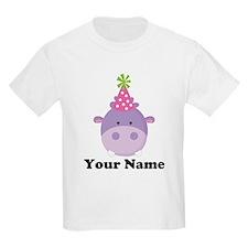 Personalized Birthday Hippo T-Shirt