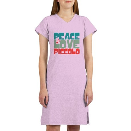 Peace Love Piccolo Women's Nightshirt