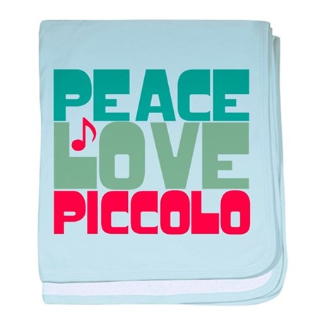 Peace Love Piccolo baby blanket