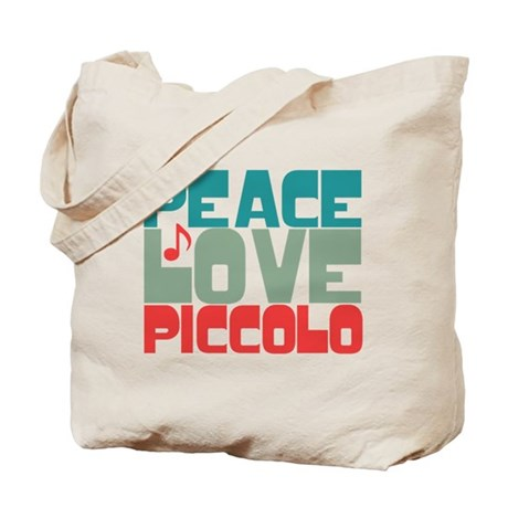 Peace Love Piccolo Tote Bag