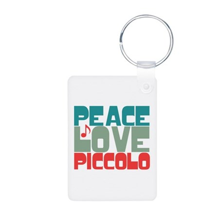 Peace Love Piccolo Aluminum Photo Keychain