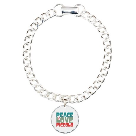 Peace Love Piccolo Charm Bracelet, One Charm