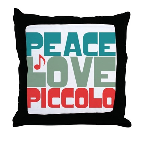 Peace Love Piccolo Throw Pillow