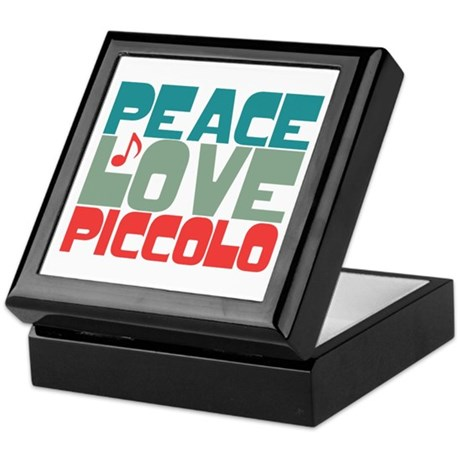Peace Love Piccolo Keepsake Box