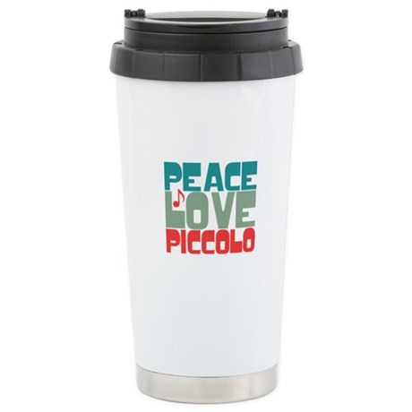 Peace Love Piccolo Ceramic Travel Mug
