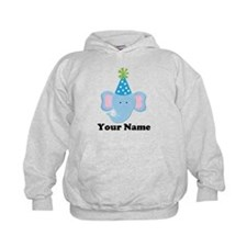 Personalized Birthday Elephant Hoodie