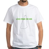 NH Live Free Or Die White Shirt