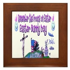 Easter Bunny Military Framed Tile