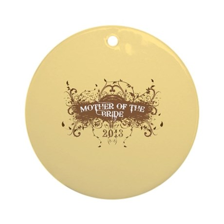 2013 Grunge Bride Mother Ornament (Round)