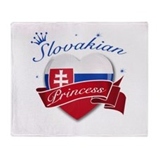Slovakian Princess Throw Blanket