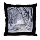 Unique White tiger Throw Pillow