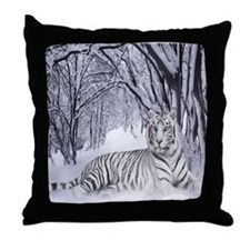 Cute White tiger Throw Pillow